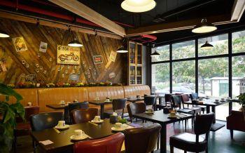 串吧烧烤店靠墙座位装修图片