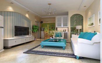 九龙仓繁华里130平地中海风格三居室装修效果图