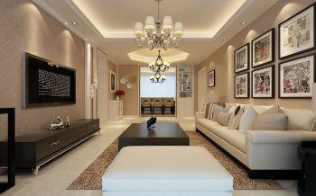 全包8W现代简约110平米3房2厅装修效果图