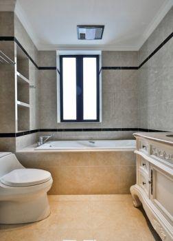 卫生间浴缸现代欧式风格装潢效果图