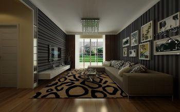 春晓翠庭现代简约风90平米套房装修效果图