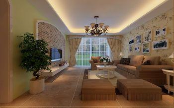 客厅地砖田园风格效果图