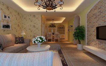客厅沙发田园风格装潢效果图