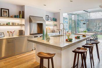厨房吧台北欧风格装修图片