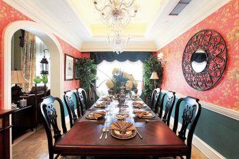 餐厅背景墙混搭风格效果图