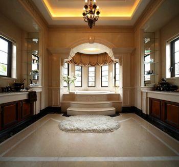 卫生间地砖法式风格装饰图片