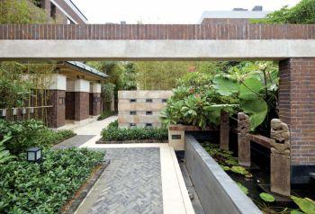 花园地砖中式风格装修效果图