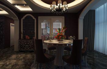 餐厅推拉门现代欧式风格装潢效果图