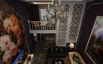 客厅楼梯现代欧式风格装修设计图片
