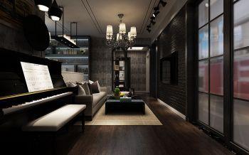 客厅推拉门经典风格装修设计图片