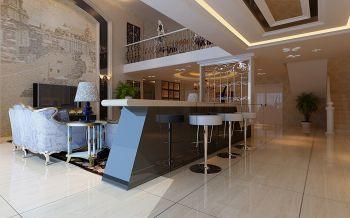客厅吧台现代欧式风格效果图