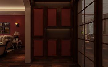 餐厅推拉门美式风格效果图