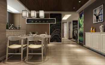 餐厅地砖新中式风格效果图