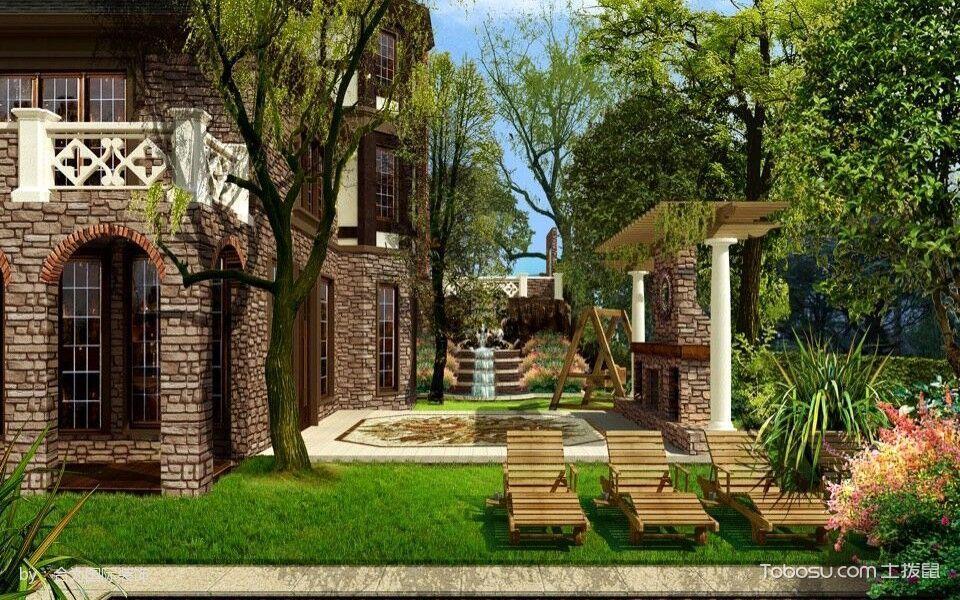 花园 外墙_美式风格花园小别墅室内装修效果图