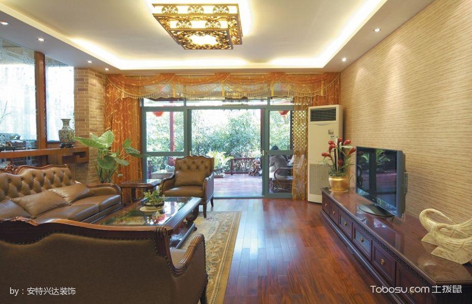 【8.2万】御翠花苑现代欧式151平米3室2厅装修效果图