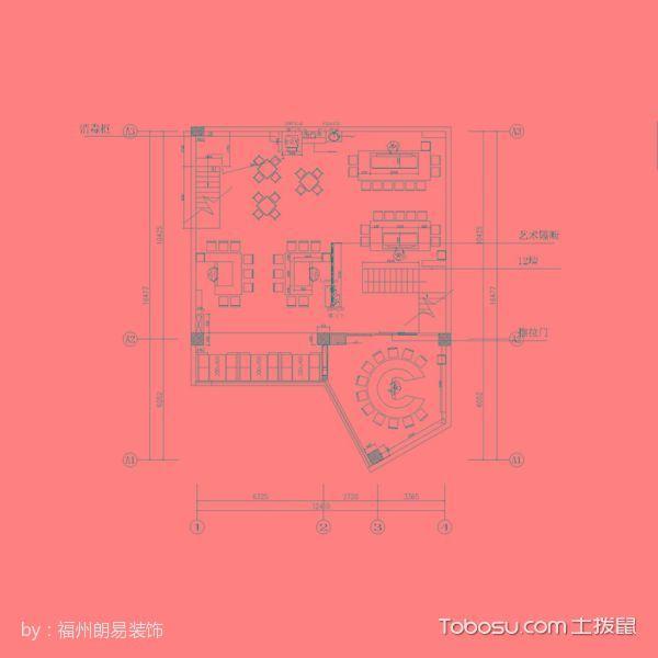 福清万达博纳铁板烧餐馆平面图