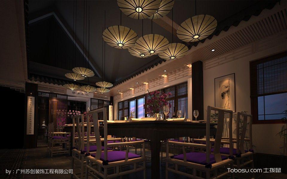 中式家常菜餐馆餐厅餐桌装修图片