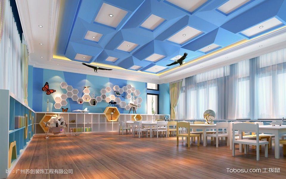 时代糖果幼儿园白色背景墙课室装修图片