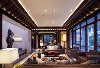 【9.4萬】中式風格庭院120平米別墅裝修效果圖