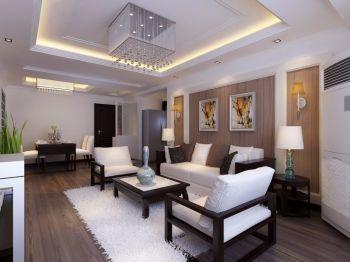 2021现代中式110平米装修图片 2021现代中式三居室装修设计图片