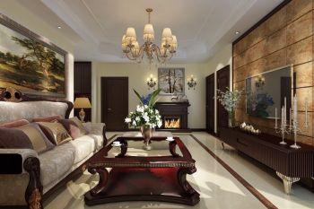 120平方现代欧式典雅3房2厅装修效果图