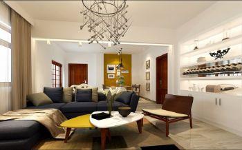 君紫花园简约舒适70平米两房一厅室内装修效果图