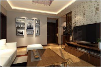 90平米简约中式三室二厅装修效果图