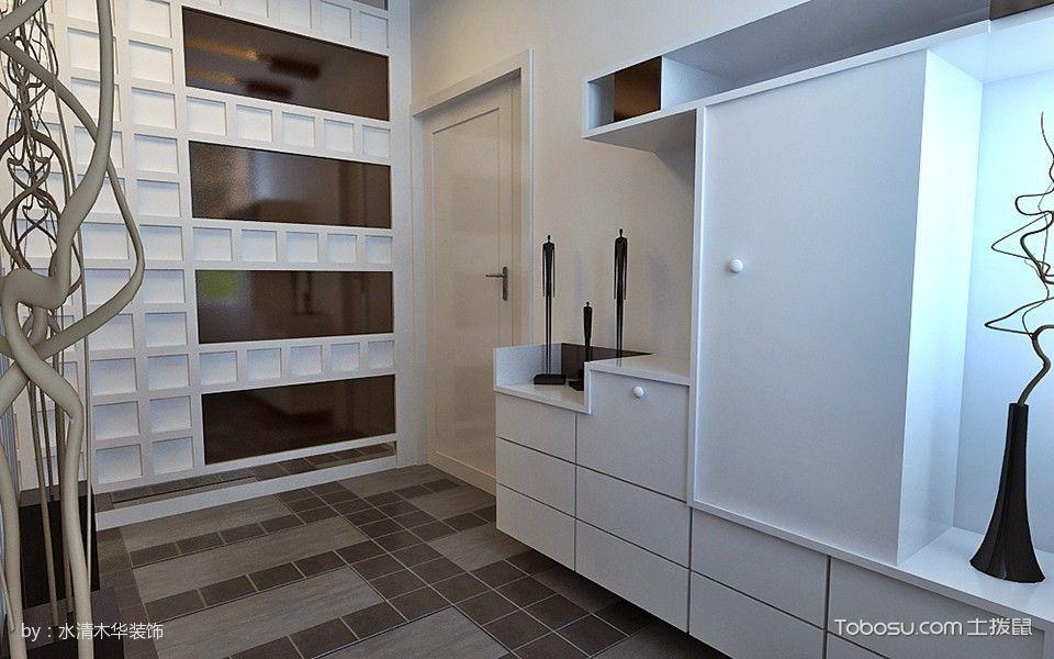 玄关米色鞋柜现代简约风格装饰设计图片