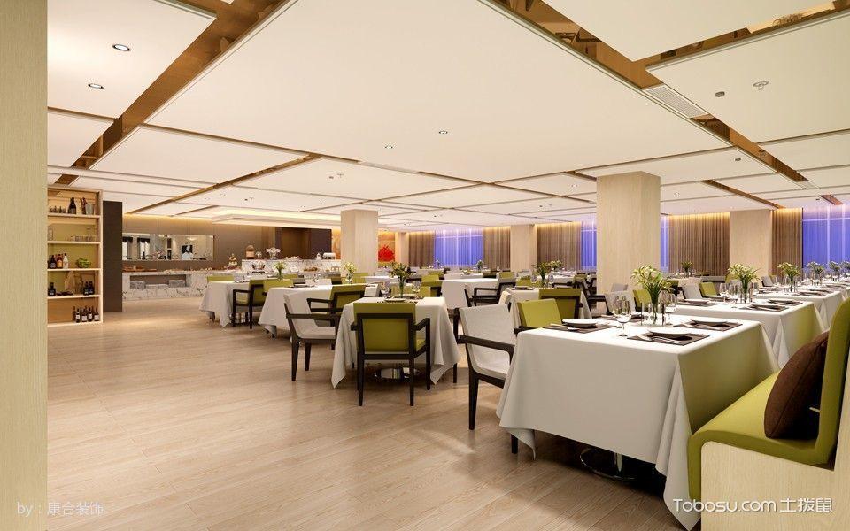 酒店餐厅地板白色装修图片