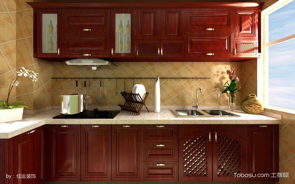 2019现代中式厨房装修图 2019现代中式橱柜装修设计