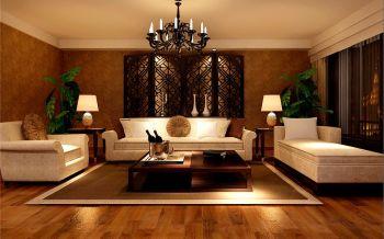 御花园三室两厅户型现代混搭风格装修效果图