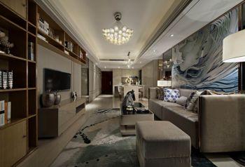 【10万】中海国际现代简约风格110平米3室2厅装修效果图