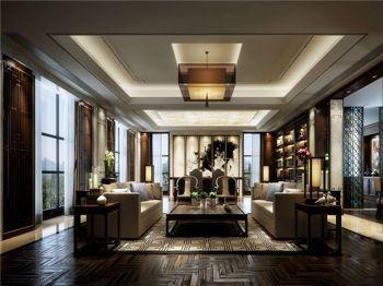 10万瑞博国际中式办公室工装装修设计图
