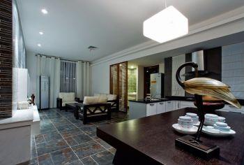 6.2万程林里现代中式110平米3房2厅装修效果图
