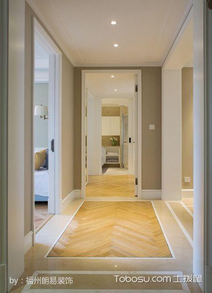 卧室黄色走廊混搭风格装饰设计图片