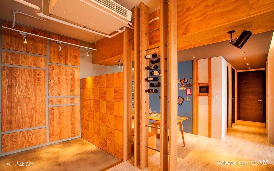 客厅黄色隔断简单风格装潢设计图片