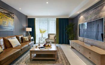 10万嘉业阳光城美式风格三室两厅装修效果图