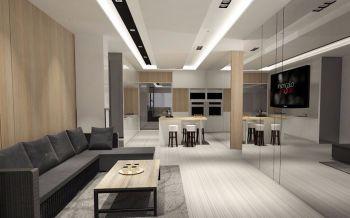 4万适园雅居简约设计70平米两房一厅装修效果图