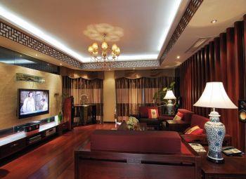 海逸长洲120平米现代中式典雅风格4室2厅装修效果图