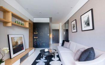 2019简约客厅装修设计 2019简约照片墙效果图