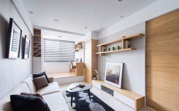 7.2万中联依山伴城简约两室一厅90平米装修设计效果图
