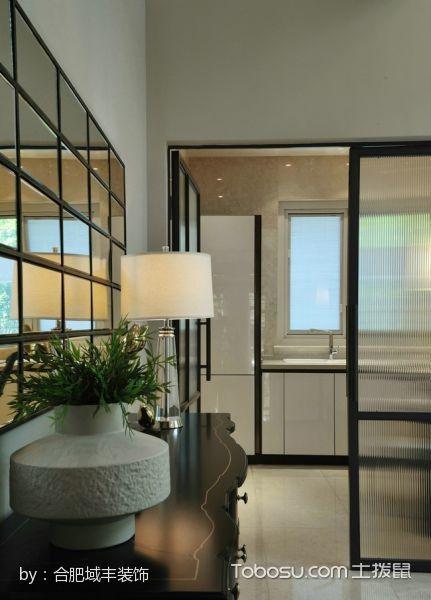 厨房黑色隔断美式风格装修设计图片