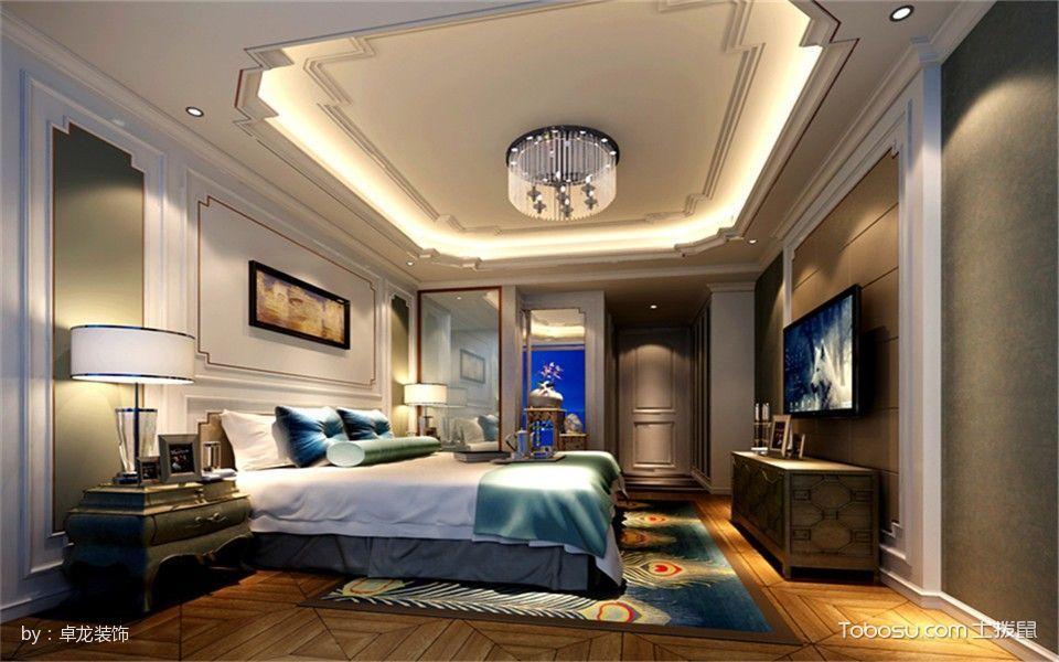 新古典混搭套房2室1厅1卫1厨120平米装修效果图