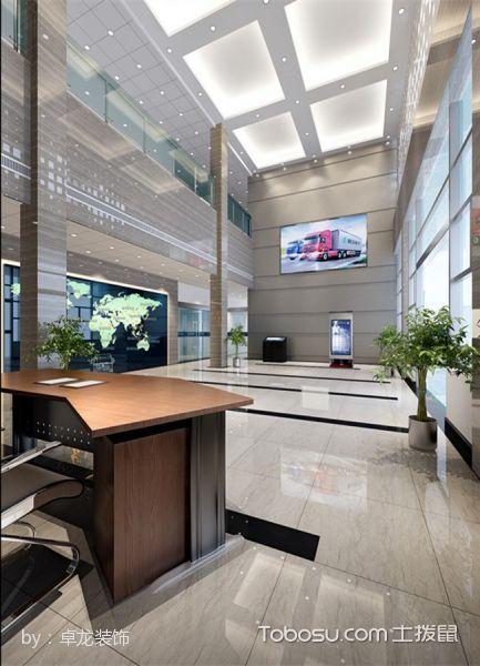 陕汽集团办公楼大厅地板装修图片