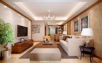 北城鸿徽苑三室两厅户型现代简约120平米装修效果图