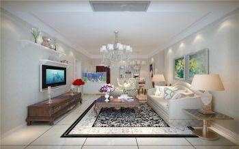6万现代简欧三房两厅120平米装修效果图