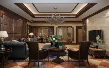 6.9万美式古典风格装三室两厅修效果图