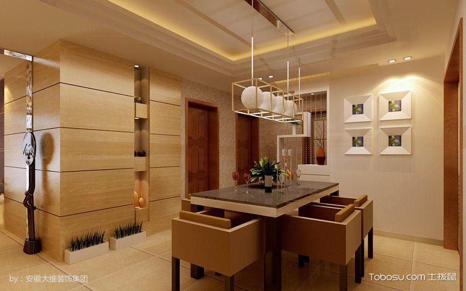 餐厅白色灯具现代简约风格装潢图片