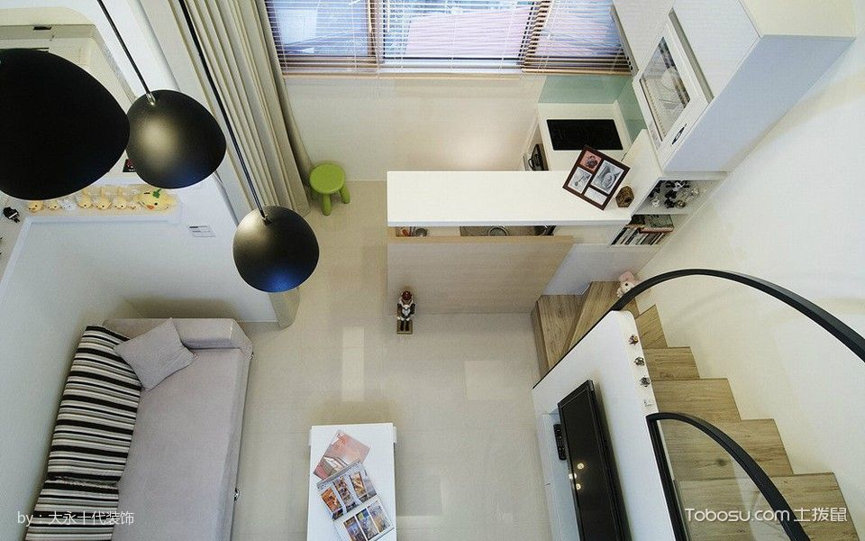 客厅白色细节简约风格装潢图片