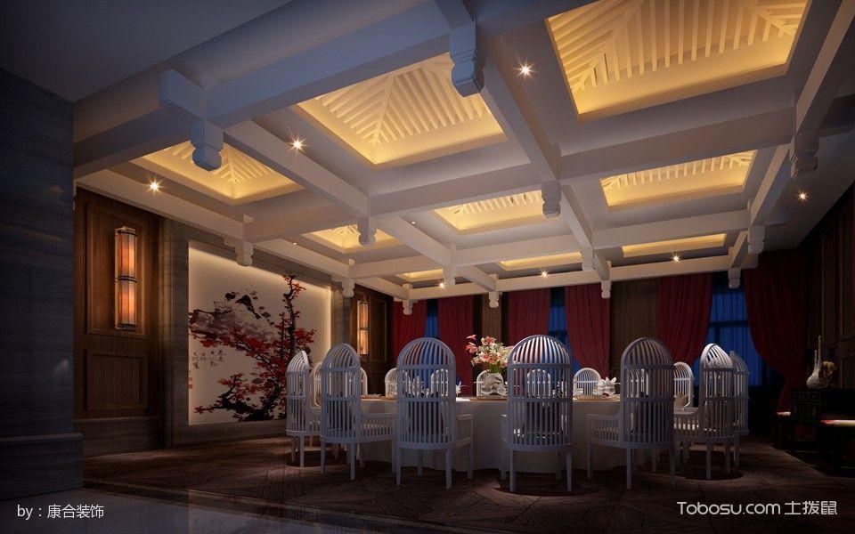 2017休闲会所餐厅餐桌装修图片